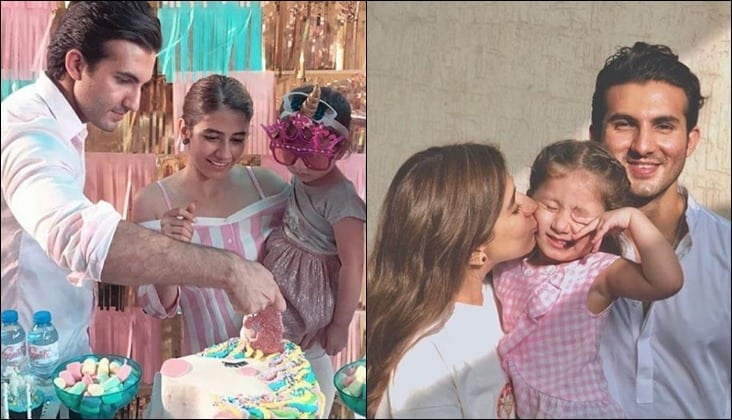 In Pictures: Syra and Shahroz Celebrate Baby Nooreh's Unicorn-themed  Birthday - ARY Digital