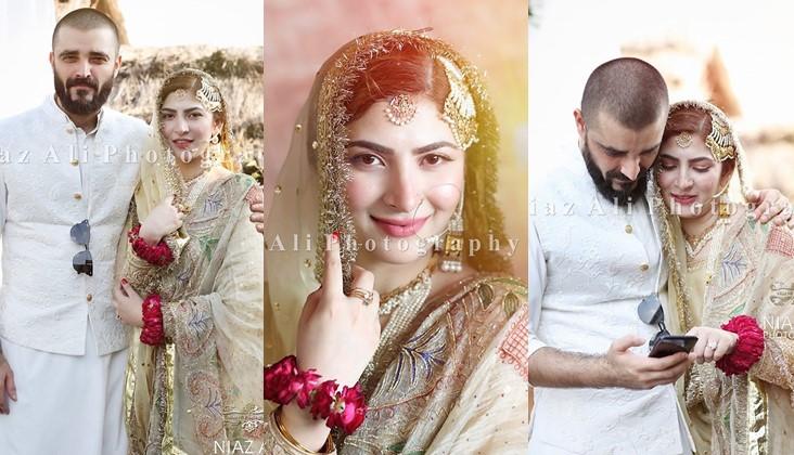 In Photos: Hamza Ali Abbasi weds Naimal Khawar - ARY Digital